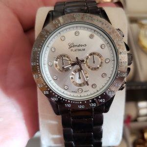 Geneva Platinum Accessories - GENEVA PLATINUM Gunmetal watch